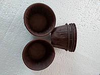 10 шт Форма пергаментная бумажная с бортиком для выпечки кексов коричневая дно 4,5 см для выпечки