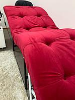 Кушетка косметологическая dark red velvet