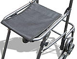 Тачка-сумка хозяйственная с тройным колесом и стулом 1075, фото 4