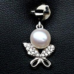 Срібний кулон з білим перлами, 703ПЖ