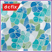 Самоклейка, декоративная самоклеящаяся пленка D-C-Fix, витражная голубая 200-2665, 45см*15м