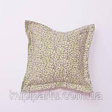 Подушка «Квіти-Оліва» з вушками 40х40 см