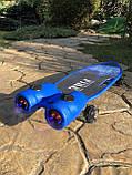 Пенні борд, скейт дитячий Fire 304, Турбіни зі світлом, парою, димом і музикою, світяться колеса, Синій, фото 2