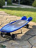 Пенні борд, скейт дитячий Fire 304, Турбіни зі світлом, парою, димом і музикою, світяться колеса, Синій, фото 4