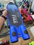 Пенні борд, скейт дитячий Fire 304, Турбіни зі світлом, парою, димом і музикою, світяться колеса, Синій, фото 9