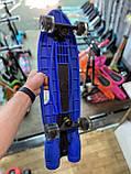 Пенні борд, скейт дитячий Fire 304, Турбіни зі світлом, парою, димом і музикою, світяться колеса, Синій, фото 8