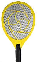 Электрическая ракетка - мухобойка Желтая, ракетка для убийства мух и комаров | мухобійка електрична (NS)