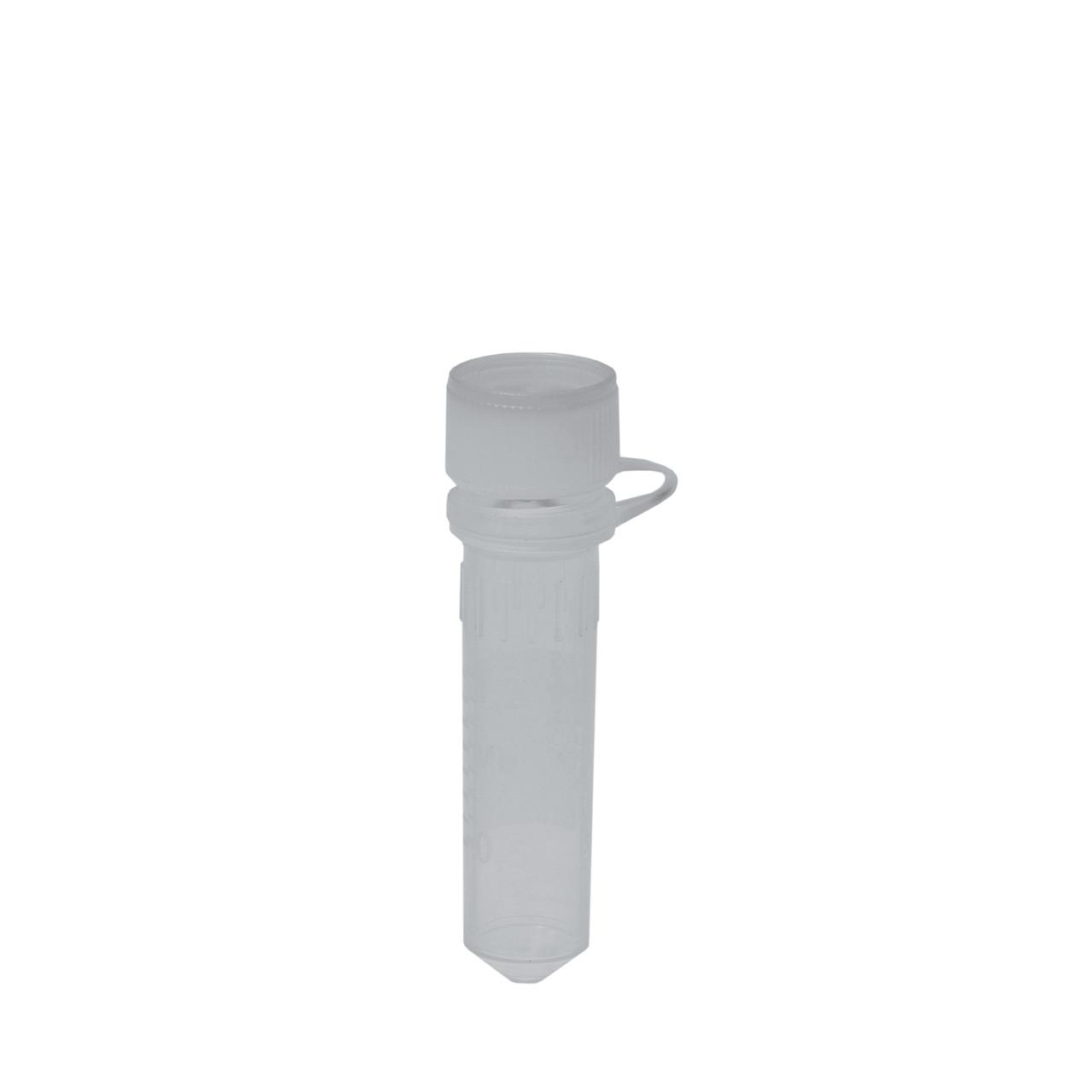 Микропробирки 2 мл, ПП, с винтовой крышкой-слотом, стерильные, свободные от ДНКаз, РНКаз