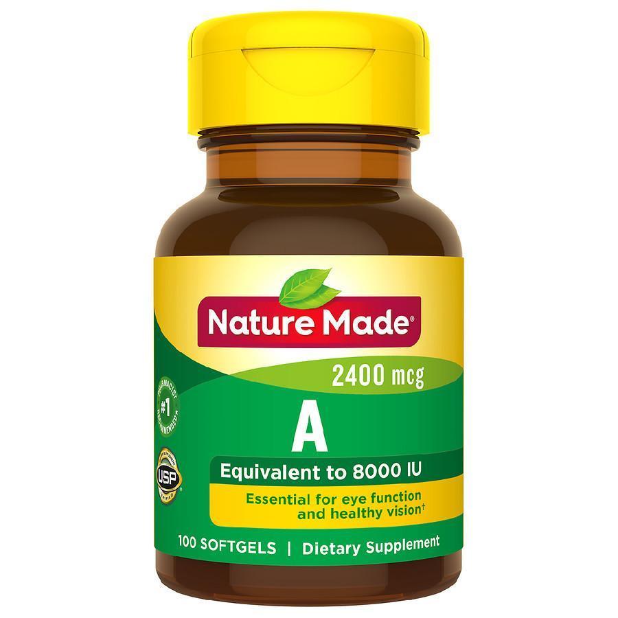 Витамин А Nature Made Vitamin A 2400 mcg  100 caps.