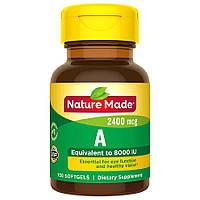 Вітамін А Nature Made Vitamin A 2400 mcg 100 caps.