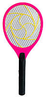 Ракетка мухобойка электрическая - мухобойка Розовая, электромухобойка | мухобійка електрична (NS)