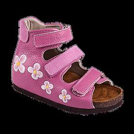 Детские ортопедические кожаные сандали 07-004 р-р. 21-30