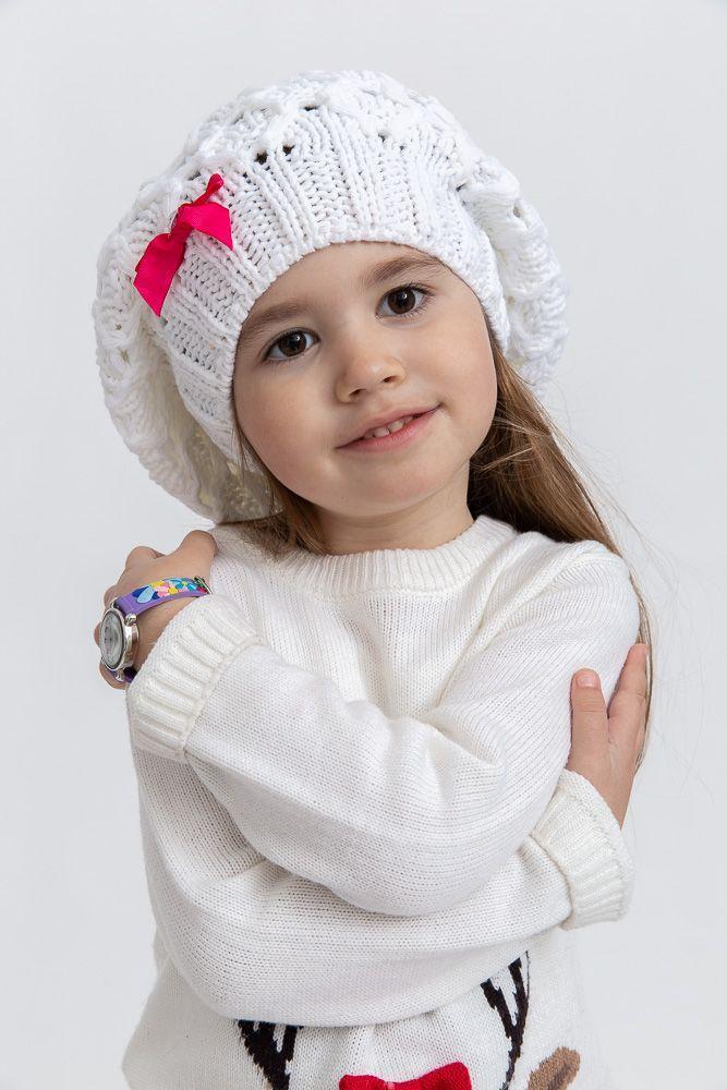 Шапка детская 126R006 цвет Белый