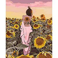 Набор для рисования Идейка Картина по номерам ИKHO4570 Подсолнуховое счастье 40х50 см