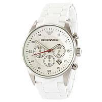 Часы наручные Emporio Armani AR-5905 White-Silver Silicone (подарочная коробка бесплатно)