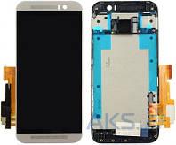 Дисплей (экран) для телефона HTC One M9 + Touchscreen with frame Original Gray