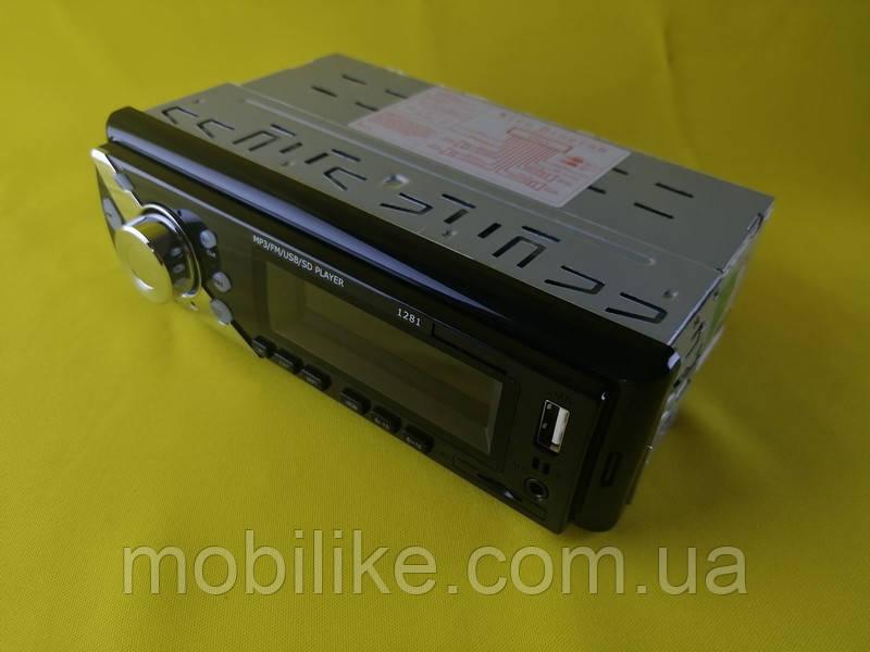 Магнитола автомагнитола Pioner 1281 ISO MP3 FM USB microSD