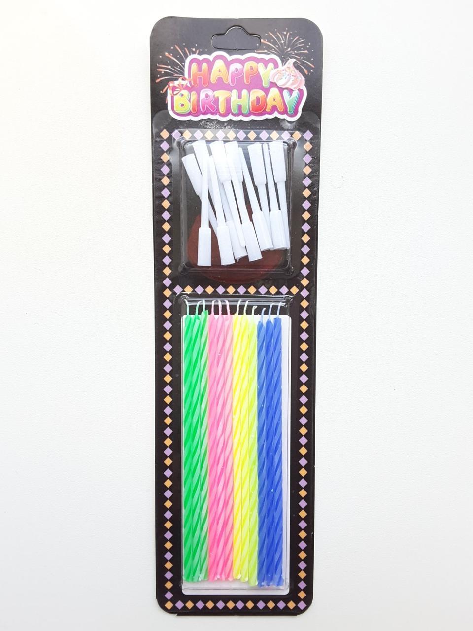 Свечи Happy birthday для торта