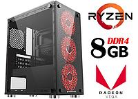 Персональный компьютер игровой Ryzen 5 3400GE / 8Gb_DDR4 / 1000Gb / Radeon_Vega11_DDR4