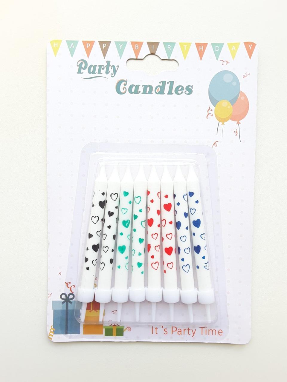 Свечи для торта Party Candles с подставкой