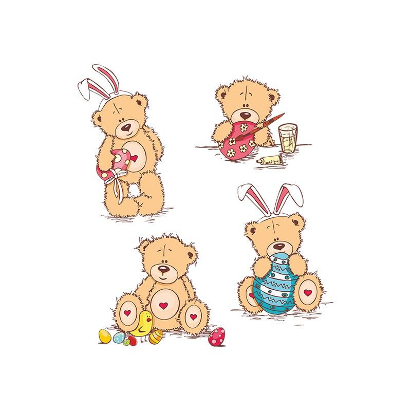 """Наліпка """"Ведмедики """"Тедді"""" / Виниловая наклейка """"Мишки """"Тедди"""""""