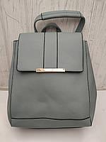 Рюкзак городской женский стильный из кожзама размер 30x24x12, фото 1