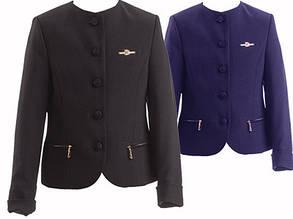 Школьный пиджак для девочки Школьная форма для девочек ПромАтельеСервис Украины ФЕЯ ,, синий,