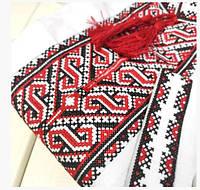 Детская рубашка-вышиванка для мальчика изготовлена из рубашечной ткани