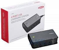 Зарядное EDNET 4 port USB charger (220V, 2USBx2.1A, 2USBx1A) White