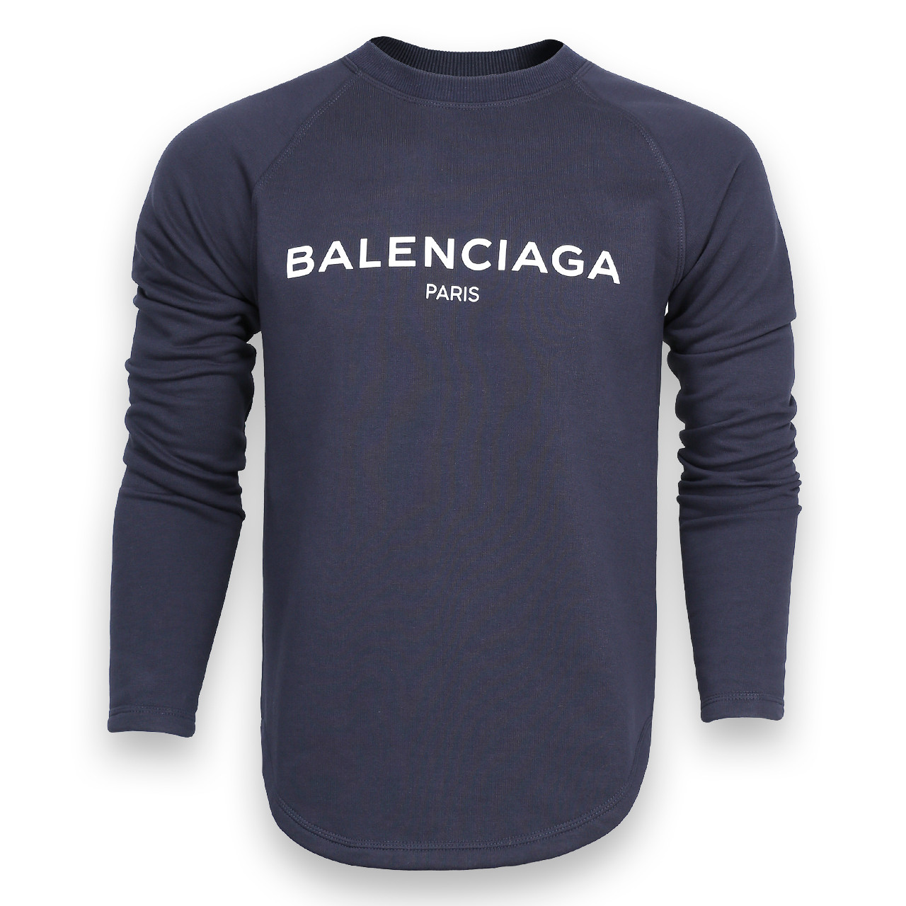 Свитшот мужской т синий BALENCIAGA с лого Р-2 DBLU M(Р) 20-510-201