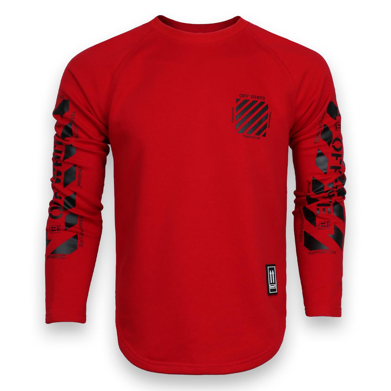Свитшот красный OFF-WHITE №6, рис на рукавах RED L(Р) 20-518-201-003