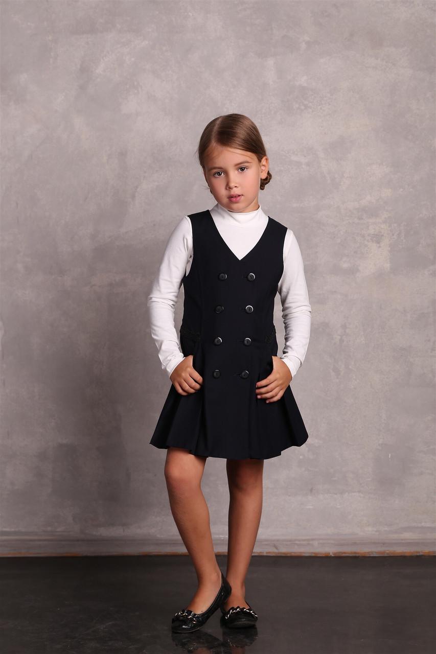 Школьный сарафан для девочки Школьная форма для девочек ПромАтельеСервис Украина НИКА черный 146, 60% шерсти,