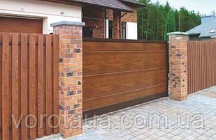 Откатные ворота DoorHan с заполнением сендвич панелями