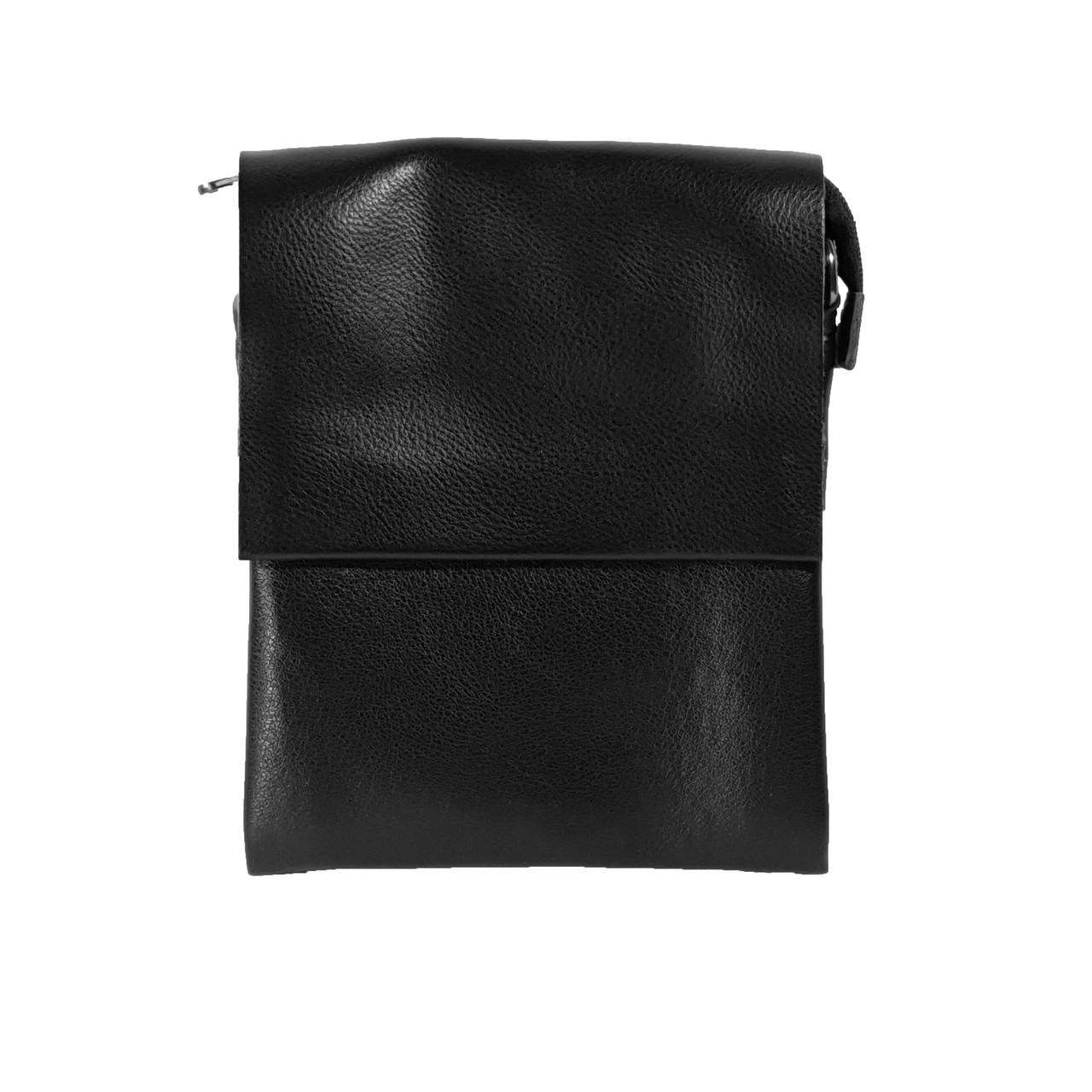 Многосекционная сумка с кожаным клапаном