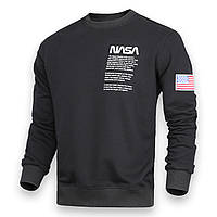 Свитшот черный NASA №4 патч BLK S(Р) 20-524-001
