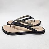36 р. Шлепанцы женские пляжные, черные летние Последняя пара, фото 3