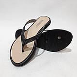 36 р. Шлепанцы женские пляжные, черные летние Последняя пара, фото 2