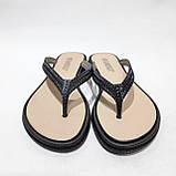 36 р. Шлепанцы женские пляжные, черные летние Последняя пара, фото 4