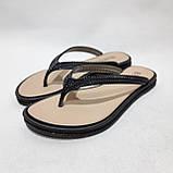 36 р. Шлепанцы женские пляжные, черные летние Последняя пара, фото 5