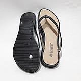 36 р. Шлепанцы женские пляжные, черные летние Последняя пара, фото 8