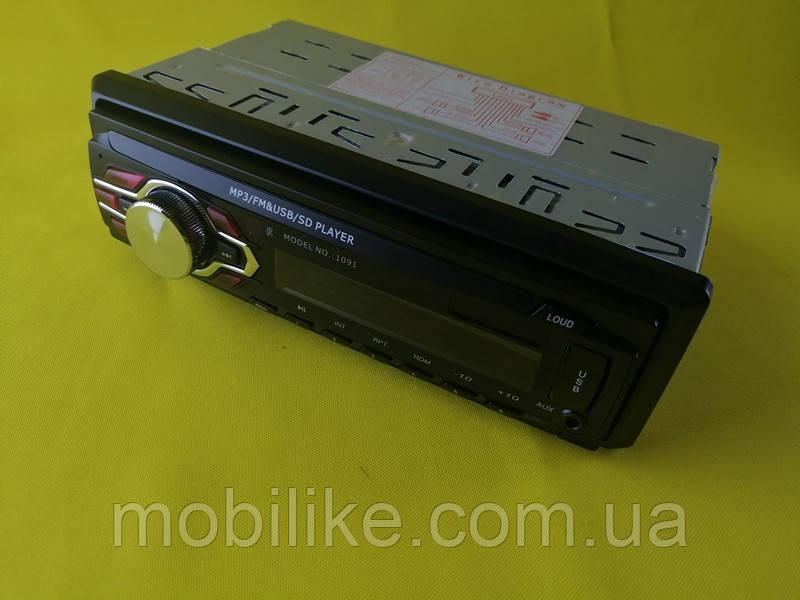 Магнитола автомобильная Pioner 1091 ISO  USB FM MP3