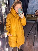 """Стеганая женская зимняя куртка """"Зефирка"""" с капюшоном"""