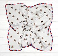 Шейный шелковый платок Fashion Моника 70х70 см серый