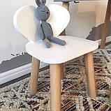 Дитячий стіл і стілець (дерев'яний стільчик ведмедик і прямокутний стіл), фото 2