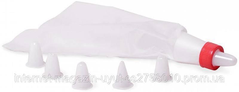 Кондитерский мешок Kamille с 6 пластиковыми насадками