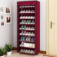 Портативный тканевый шкаф органайзер для обуви и аксессуаров shoe rack and wardrobe