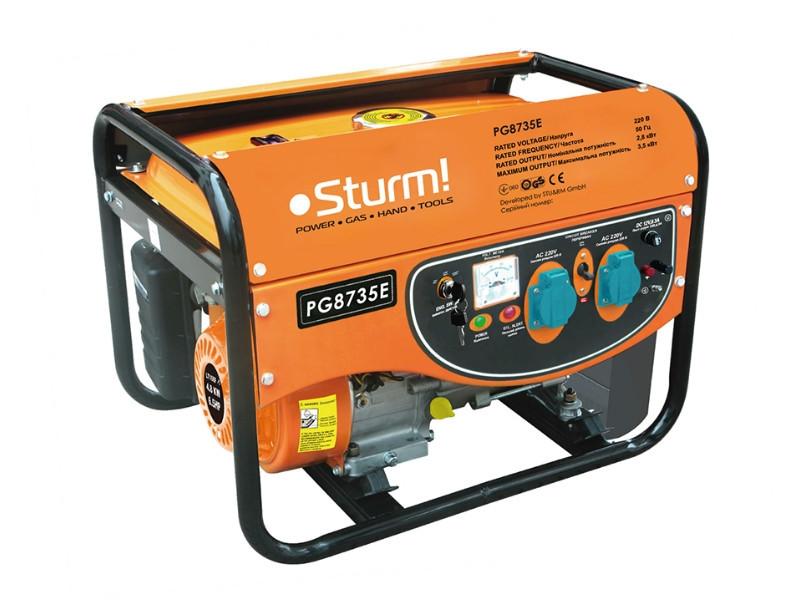 Генератор бензиновий, електрогенератор (3500 Вт, ручна / електро) Sturm PG8735E