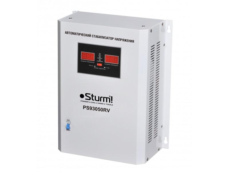 Стабілізатор напруги релейний 5000 ВA настененний Sturm PS93051RV