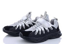 Детские кроссовки для девочки на липучке черные серебристые размер 34 - 22,5 см стелька