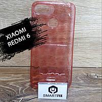 Прозорий силіконовий чохол для Xiaomi Redmi 6 Червоний, фото 1